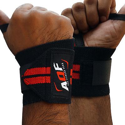 Aqf Peso Sollevamento Polso Wraps Bandage Mano Supporto Palestra Cinghie Rinforzo Cotone- Buono Per L'Energia E La Milza