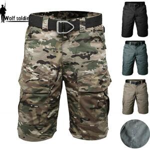 Mens-Combat-Shorts-Army-Military-Tactical-Cargo-Pants-Summer-Multi-Pocket-Casual