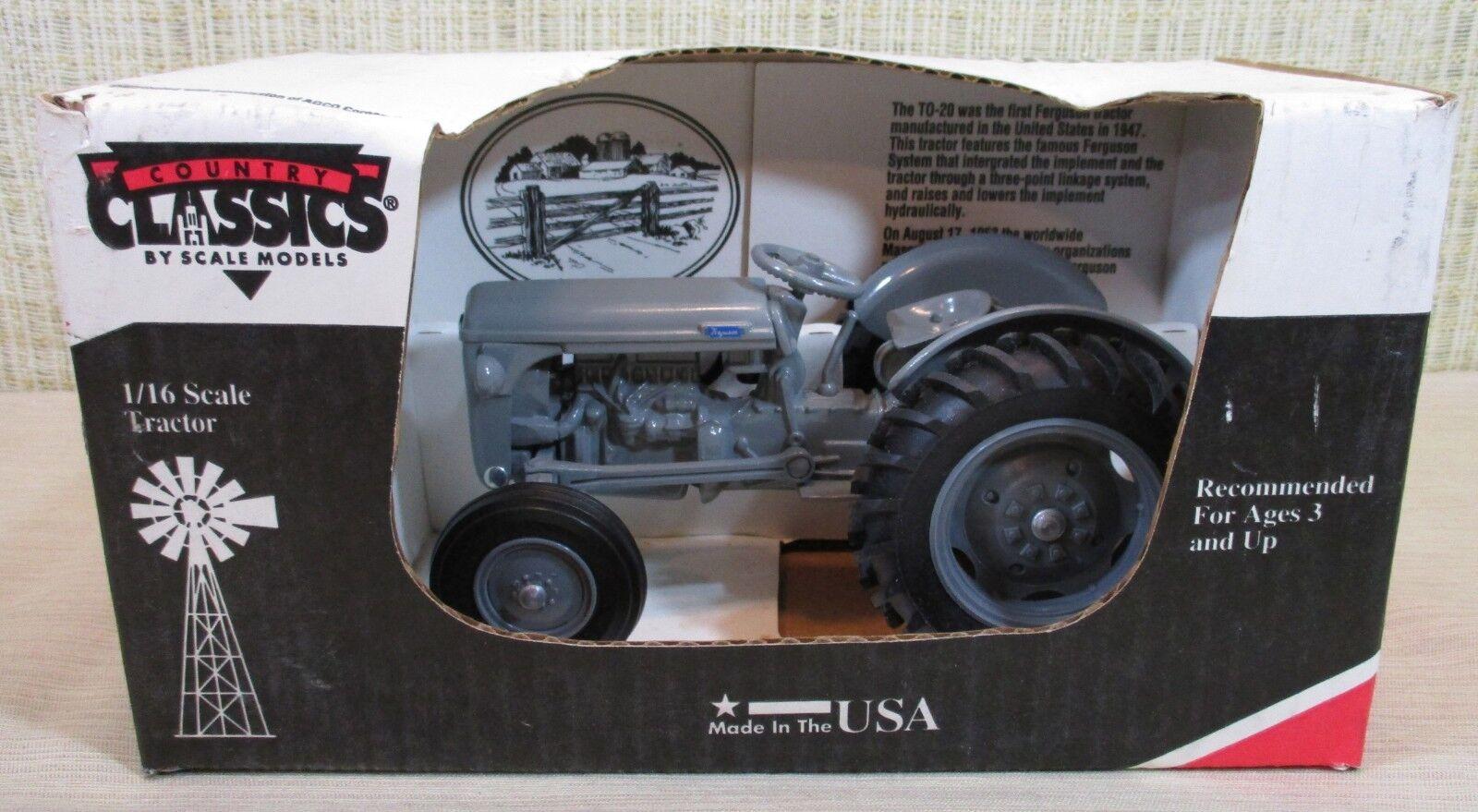 Scale models Massey Ferguson TO-20 Tractor de Granja Gris DIE-CAST 116 Made Usa Nuevo