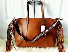 Bolsa Grande De con flecos Camel Azteca Stradivarius Shopper Bolso de mano Bolsón Zara group