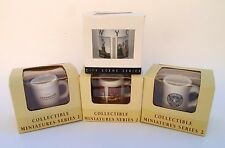 LOT OF 4 STARBUCKS COLLECTIBLE MINIATURES SERIES 2 & NEW YORK CITY ARCHITECTURAL