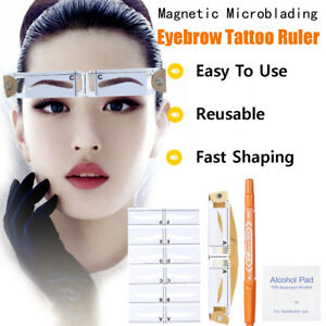 6pcs Resuable Eyebrow Tattoo Guide Template Magnetic Microblading