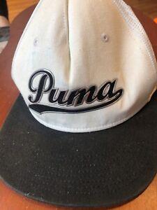 ad89099d97b Mens PUMA Snapback Hat Dry Cell Adjustable Cap White 889181844371