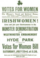 Irish Women Votes for Women - Hyde Park - Irishwomen A3 Art Poster Print
