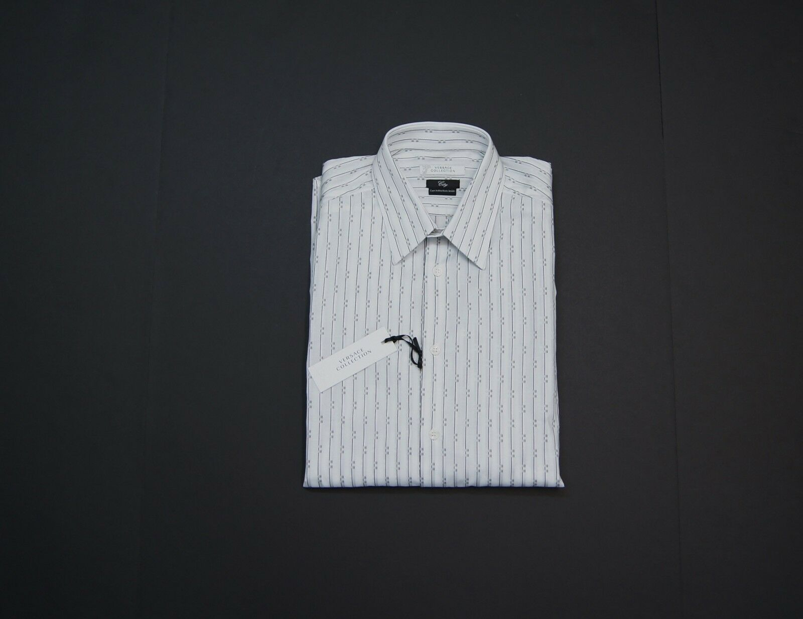 VERSACE COLLECTION Men City Fit Striped Dress Shirts NEW NWT 295