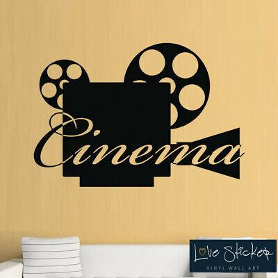 Movie Theatre Cinema Film Living Hobby Cool Wall Art Stickers Decal Vinyl Room