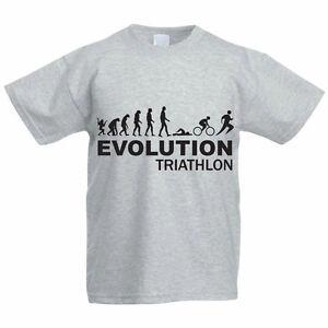 d491d18d Image is loading EVOLUTION-TRIATHLON-Swim-Bike-Run-Sport-Funny-Children-