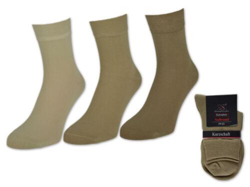 6 o 12 PAIA CORTO gambale Calzini Calze da Uomo Cotone Nero Jeans