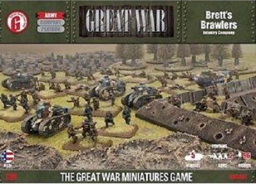 GUSAB1 BRETT'S BRAWLERS INFANTRY COMPANY- FLAMES OF WAR SENT FIRST CLASS