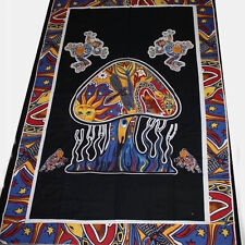 tagesdecke-magic mushroom-wandbehang Black Single 67