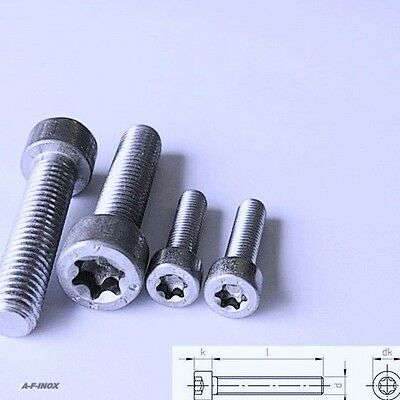 Zylinderschrauben  ISO 14579 Edelstahl VA TORX  M2 M2,5 M3 M4 M5 M6 M8 ISR