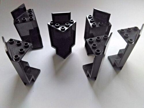6 X Lego Castle coin murs Noir