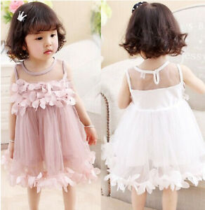 Pageant-Toddler-Kids-Girls-Pricness-Bridesmaid-Tulle-Petal-Formal-Party-Dresses