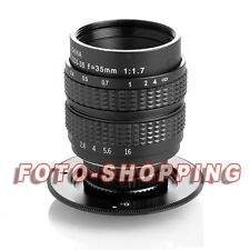 LENS FUJIAN 35MM F1.7 OBIETTIVO SONY NEX 1.8 2.8 OSS ZA E-MOUNT CCTV