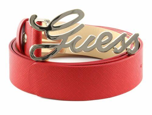 GUESS Robyn Adjustable Belt W85 Gürtel Red Rot Beige