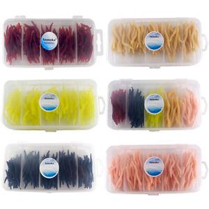 150-Pieces-Souple-Earthworm-Peche-Appat-Ver-Leurre-Poissons-Nageurs-Crochets
