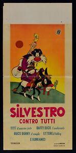 Plakat Katze Silvester Gegen Alle Bugs Bunny Daffy Duck Tweety Canario L159