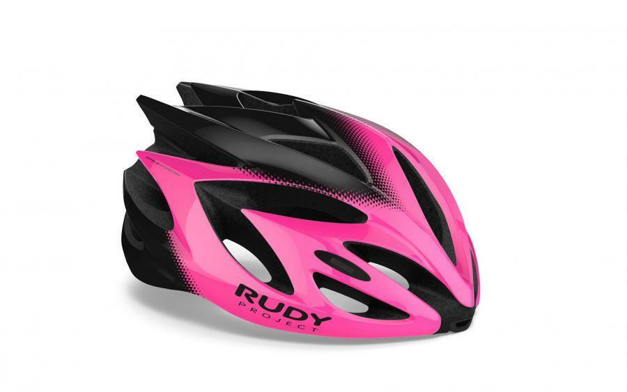 CASCO RUDY PROJECT RUSH PINK FLUO BLK SHINY 2019