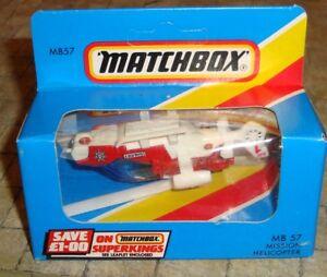 MATCHBOX-MISSIONE-Elicottero-MB57-boxed-non-aperto-c1980-039-s-AFFARE