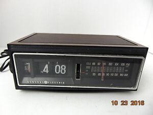 vintage ge general electric flip number alarm clock radio 7 4300f for parts only ebay. Black Bedroom Furniture Sets. Home Design Ideas