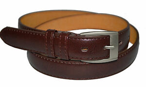 Men/'s Casual Black Brown Dress Genuine Leather Belt w// Buckle New Size S M L XL