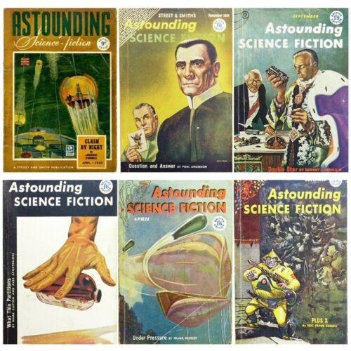 Astounding Science Fiction Magazine Selection of Vintage 1940s 1950s Issues