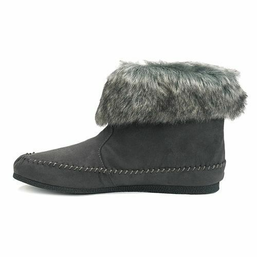 New NIB Madden Girl Finnn Women's Moccasin Ankle Boots Size 5 Gray Shoes