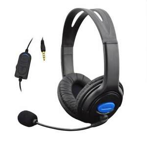 Casque-Avec-Micro-Pour-PS4-Sony-Play-Station-4-PC-stereo-filaire-Gaming-Headsets