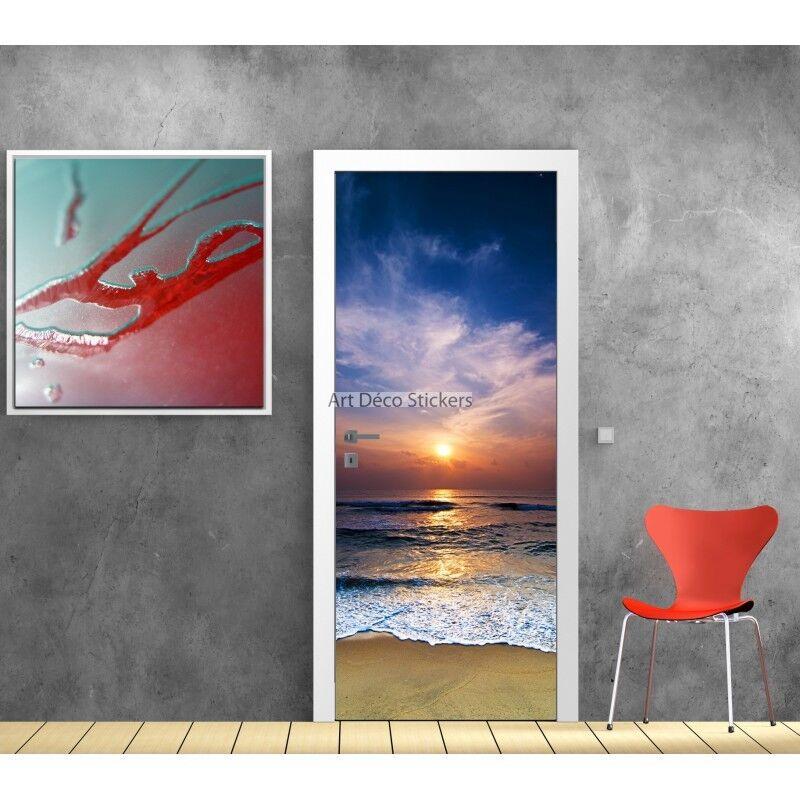 Aufkleber Tür Deko -untergang Sonne Ref 710 710