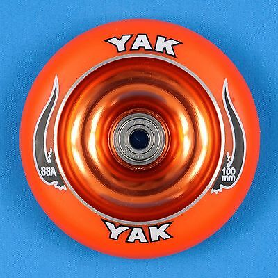 Razor Lucky District Phoenix YAK Scooter Wheel 100mm  Red//Black w//Bearings
