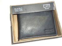 Marc York By Andrew Mark Genuine Leather Billfold Wallet, Black