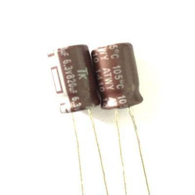 50PCS 35V 220uF 35Volt 220MFD 105C aluminum Electrolytic Capacitor 8mm×12mm
