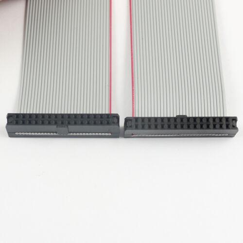 2Pcs 2mm Pitch 2x15 Pin 30 Pin 30 Wire IDC Flat Ribbon Cable Length 90CM
