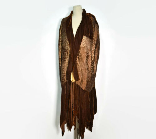 Vintage 1920's Gold Lame and Brown Velvet Cocoon C