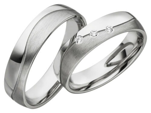 S060 Paarpreis 2x JC Trauringe Silber Eheringe 925 Sterling inkl.Gravur /& Etui