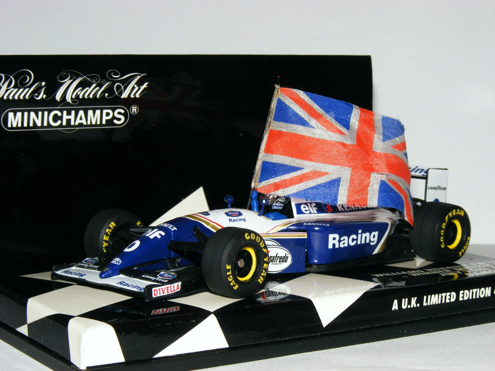 Minichamps Williams Renault FW16 Damon Damon Damon Hill 1994 British GP LTD ED 1/43 | Qualité Supérieure