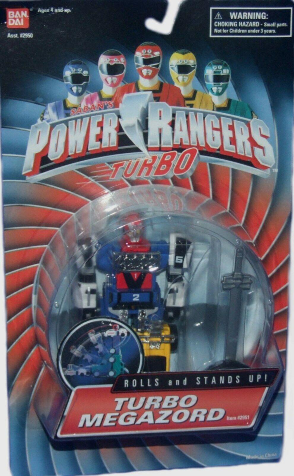 Power  Rangers Turbo Megazord Rolls & Stands Up Action Figure Factory Sealed nouveau  centre commercial de la mode