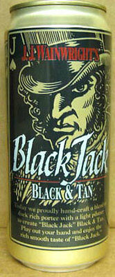 BLACK JACK BLACK & TAN 16oz Beer CAN Pittsburgh, PENNSYLVANIA, c.1995 Grade 1/1+
