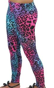 New Ladies 80s style Neon Colour Leggings 8-22