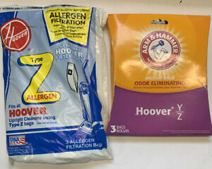 Hoover-Z-Type-Vacuum-Bags-Allergen-Filtration-Bags-3-Pack-Plus-A-amp-h-3pack