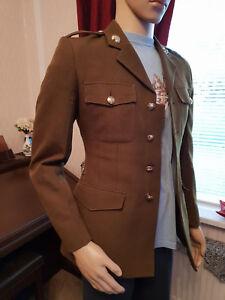 vintage-khaki-green-obsolete-officer-army-uniform-no2-dress-jacket-amp-tie-34-034