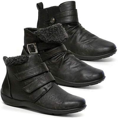 Señoras Biker Botas Para Mujer Chelsea Smart formal confort Tobillo Slouch Zapatos Talla