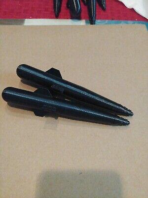 GI Joe 1985 Cobra Morey Hydrofoil Deck Missiles Set of 4 ARAH Custom in black