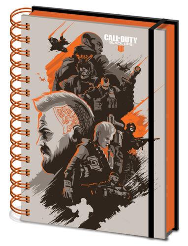 Block Notebook Call of Duty Black Ops IIII Spiralbindung Notizbuch A5