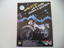 advertising Pubblicità 1984 MOTO APRILIA ET 50