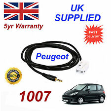 Peugeot 1007 AUX 3.5mm Input Audio cable model year 2005 onwards CD Quality