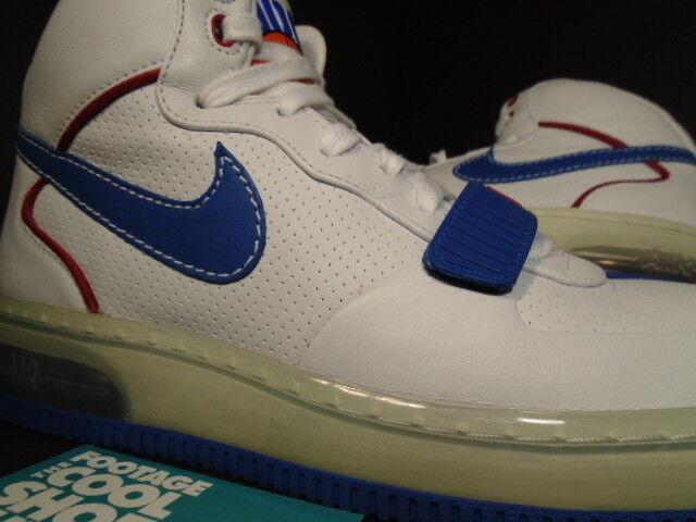 2007 Nike Air Force 1 Mid SUPREME MAX CB 34 BARKLEY ALPHA WHITE RED BLUE Sz 7.5