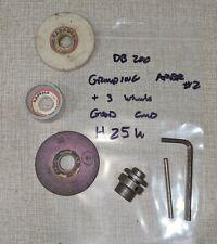 Emco Unimat Db200 Lathe Grinding Arbor Set 2 With 3 Grinding Wheels H25u