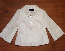 BNWT PAUL COSTELLOE DRESSAGE LADIES IVORY LINEN CROPPED JACKET S:8/36  £239