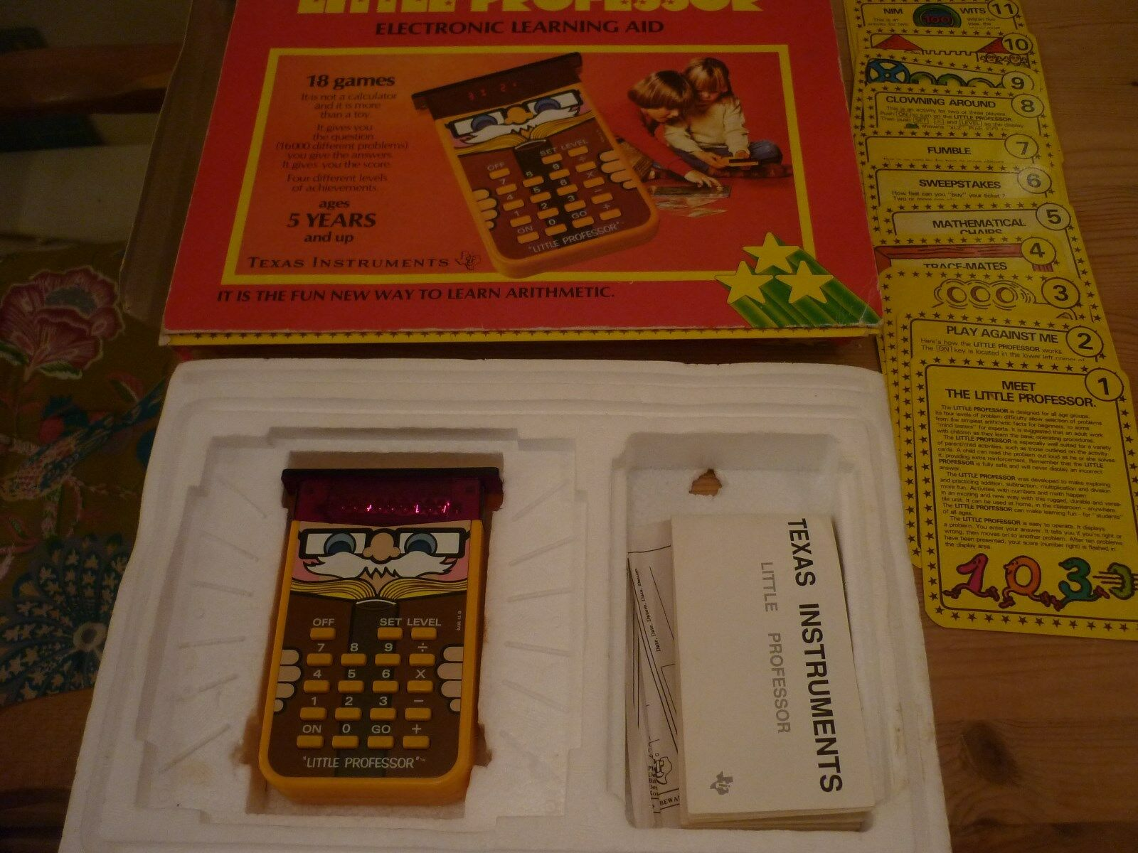 Little Professor Maths LED Game Calculator Boxed Vintage 1980s Texas Instruments